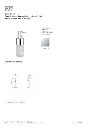 Todos los catálogos y folletos técnicos DORNBRACHT