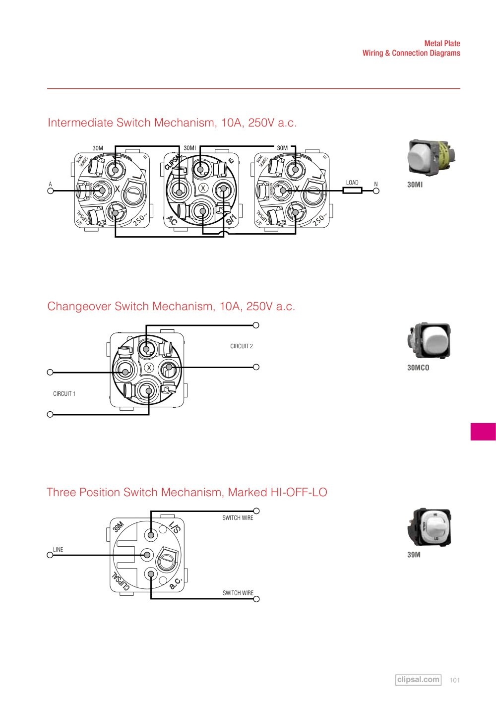 clipsal switches and sockets catalogue wiring diagrams