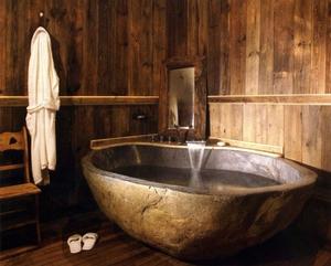 baignoire pierre