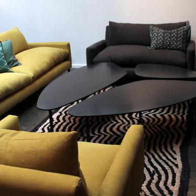 table basse contemporaine en metal professionnelle atoll