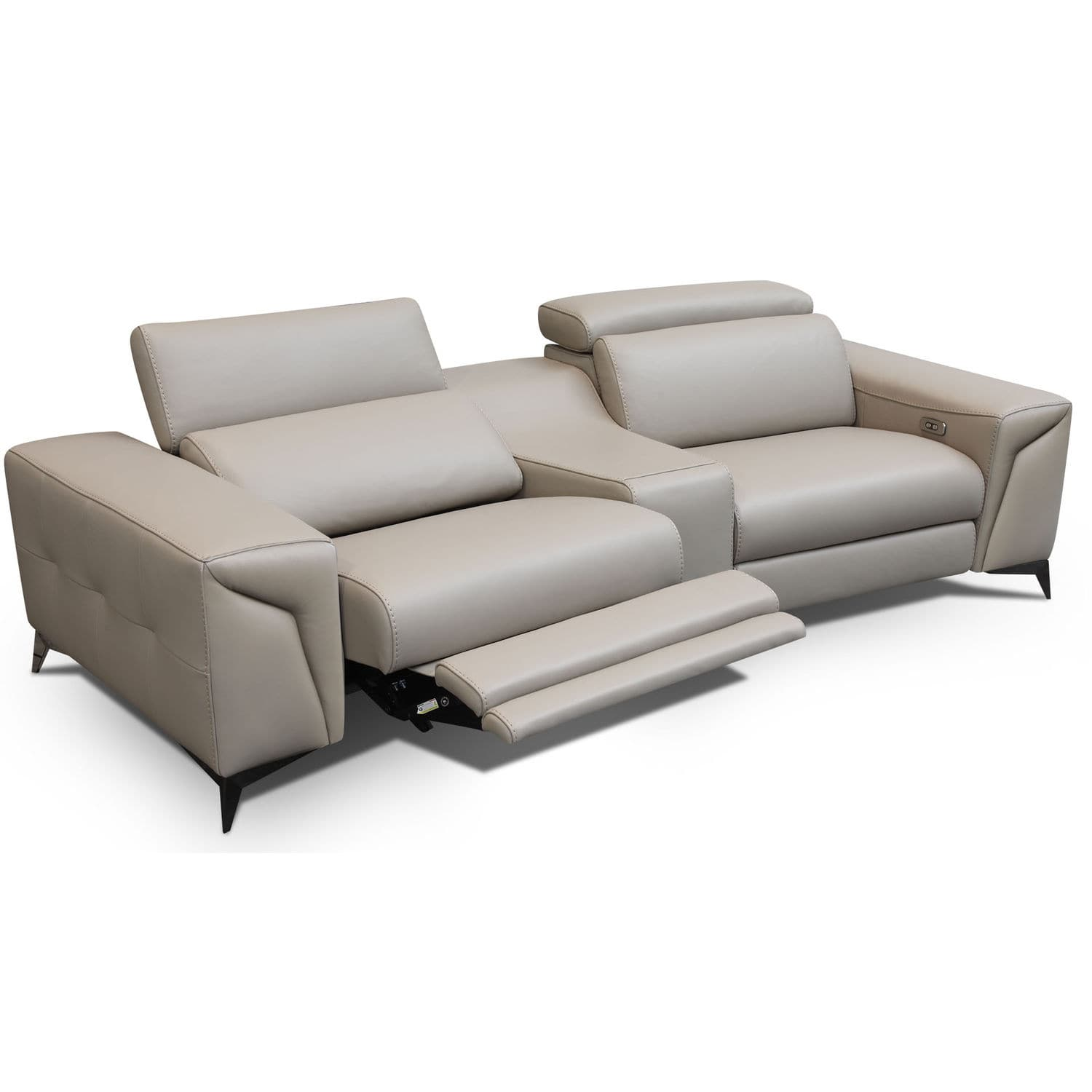 canape contemporain en cuir 2 places inclinable mara