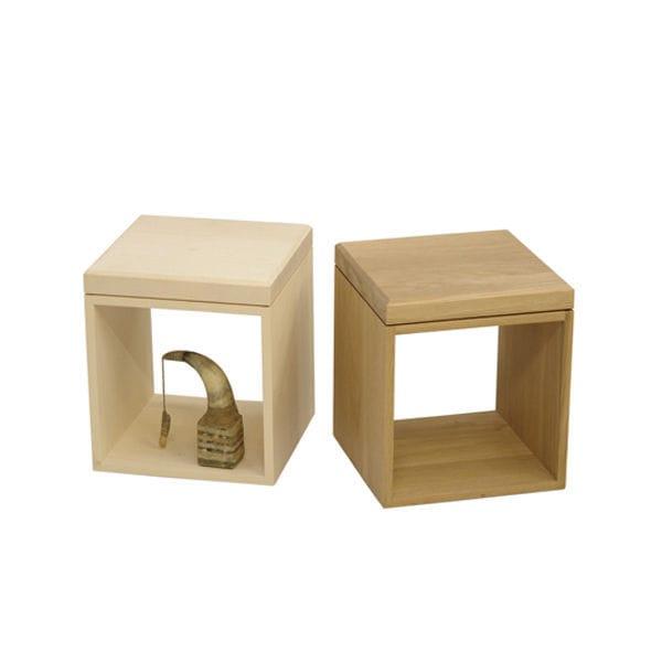 cube bois table de chevet
