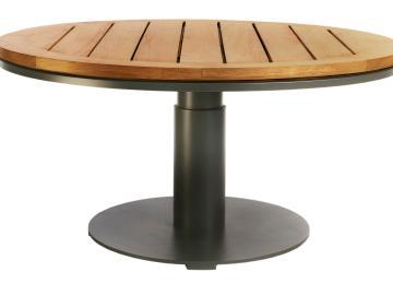 Salon De Jardin En Bois Table Ronde | Salon De Jardin Teck Table ...