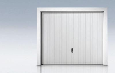 porte de garage basculante en acier galvanise automatique