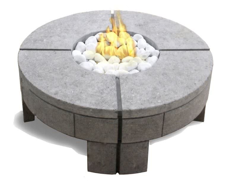 table basse contemporaine en pierre ronde de jardin 919 by stephane gruffaz