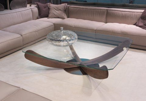 Table Basse Contemporaine En Verre Carree Elica By Fausto Di Martino Klab Design