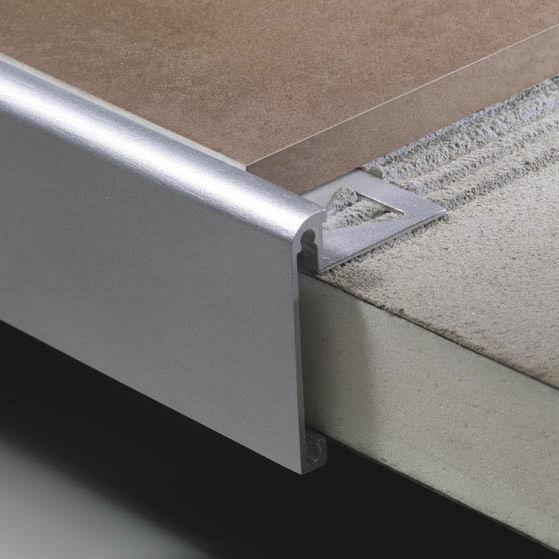 Profile De Finition En Aluminium Planotec Bp Profilitec Pour Carrelage Chant Droit