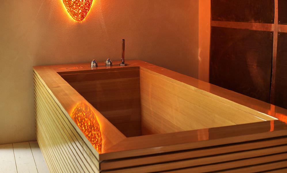 baignoire en bois balneo professionnelle