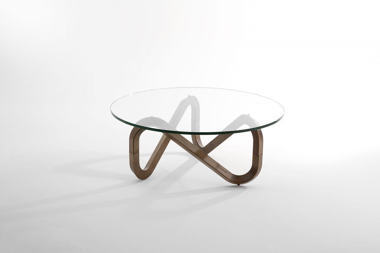 Table Basse Contemporaine En Verre Ronde Libra Kubikoff