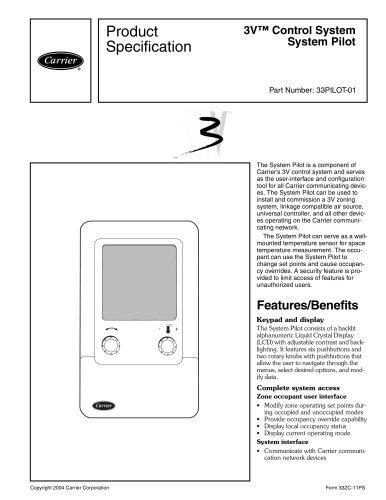 Tous les catalogues et fiches techniques (PDF) CARRIER