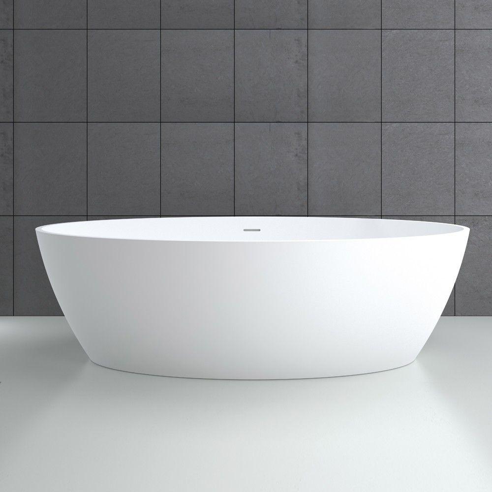 Vasca Da Bagno In Acrilico 180x81x60 Design Freestanding Ovale : Vasca bagno resina bagno vasca design