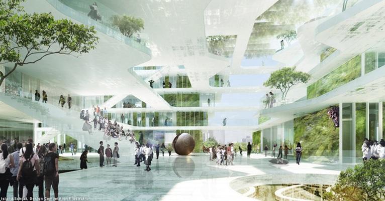 Winning design team for the new Island School in Hong Kong