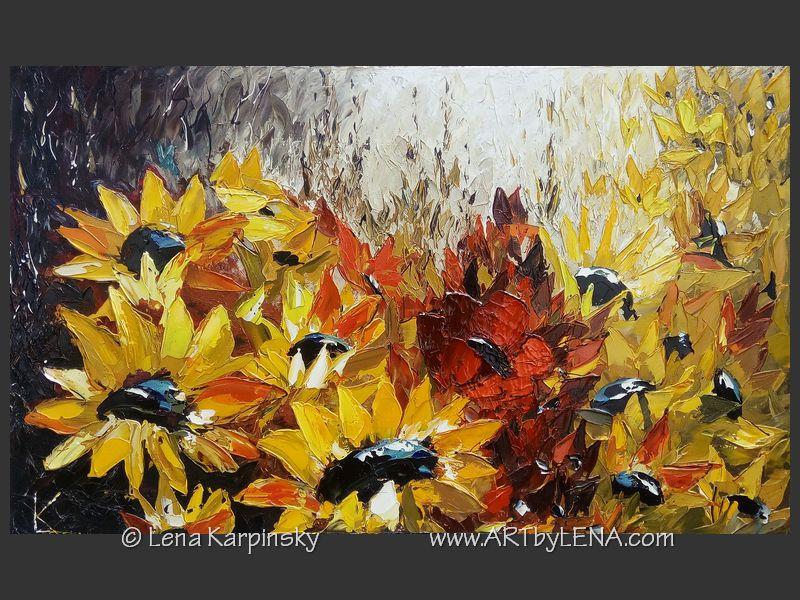 original flowers paintings art