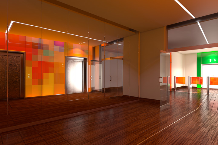 Kaliedoscope lobby interior design