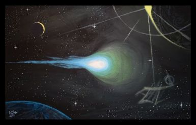 Comet - Data Hriba - Paintings & Prints, Astronomy & Space, Comets, Meteors,  & Asteroids - ArtPal