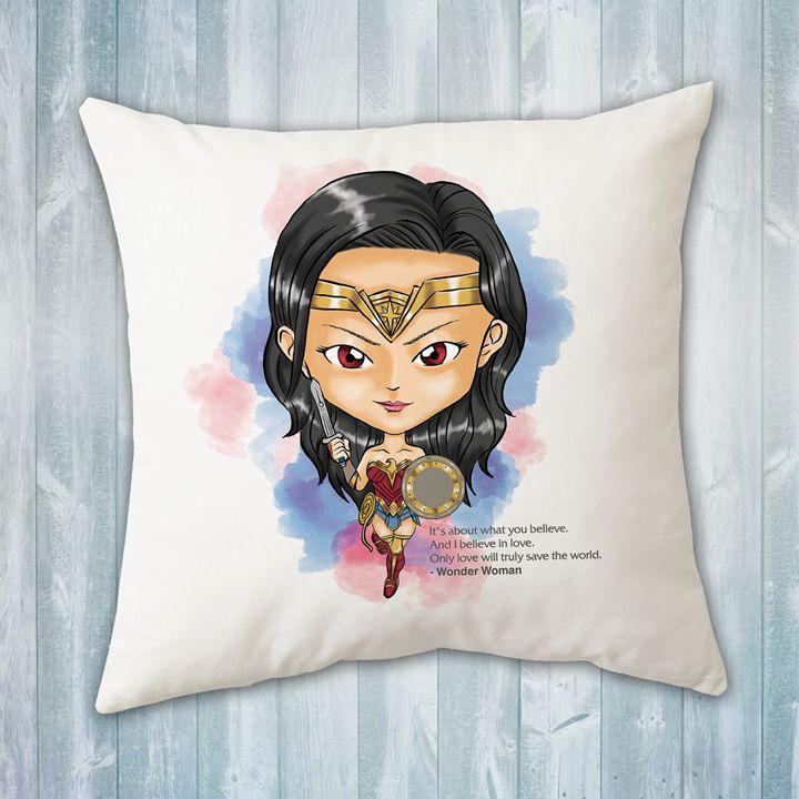 chibi wonder woman pillow evershades