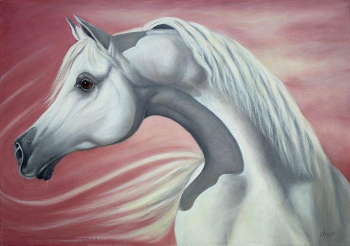 Allahs Gift Arabian Horse Head Jane Indigo