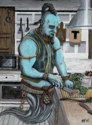 Genie Cooking Kitchen Magic Helms Art Creations Paintings & Prints Fantasy & Mythology Mythology Arabian Other Arabian ArtPal