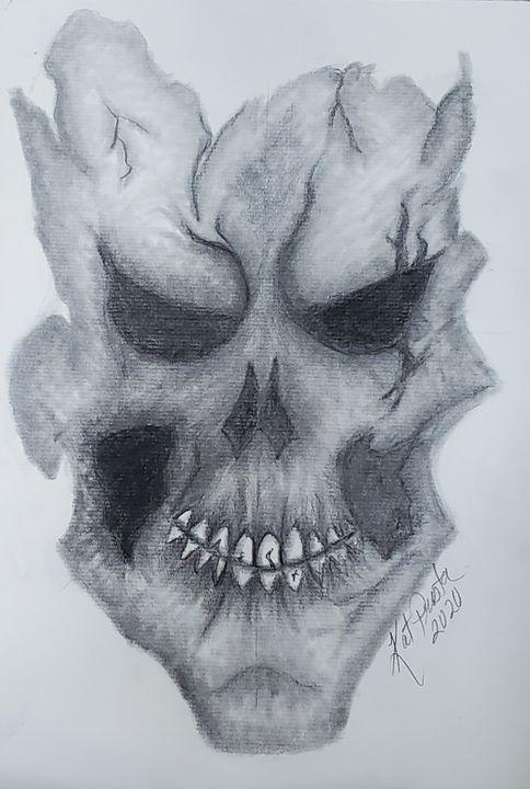 Skull Mask Drawing : skull, drawing, Skull, Preston, Drawings, Illustration,, Still, Life,, Other, ArtPal