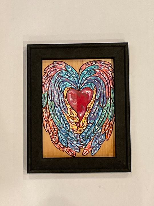 Protect My Heart - Blended Soul Artworks - Paintings & Prints. People & Figures. Love & Romance - ArtPal