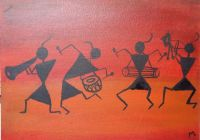warli painting - anamika art gallery - Paintings & Prints ...