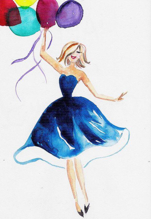 Birthday Card Painting : birthday, painting, Happy, Birthday, TattyArty, Paintings, Prints,, People, Figures,, Portraits,, Female, ArtPal