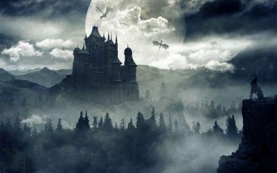 Gothic Matte Painting Anubrata Khan Digital Art Fantasy & Mythology Magical Castles ArtPal