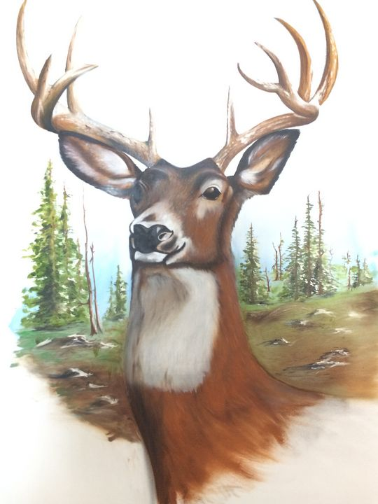 Famous Deer Paintings : famous, paintings, Monarch, Painting, Keybart, Paintings, Prints,, Animals,, Birds,, Fish,, ArtPal