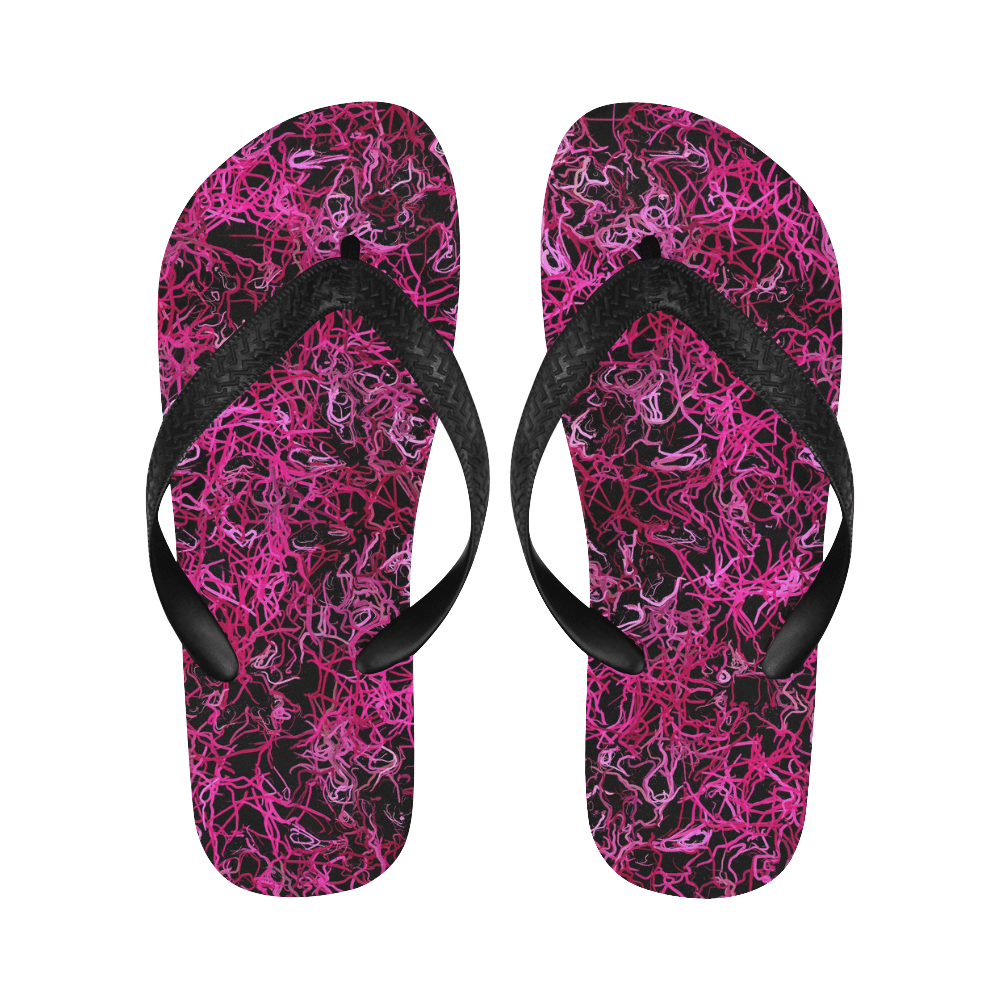 Hot Pink and Black Electric Lines 5078