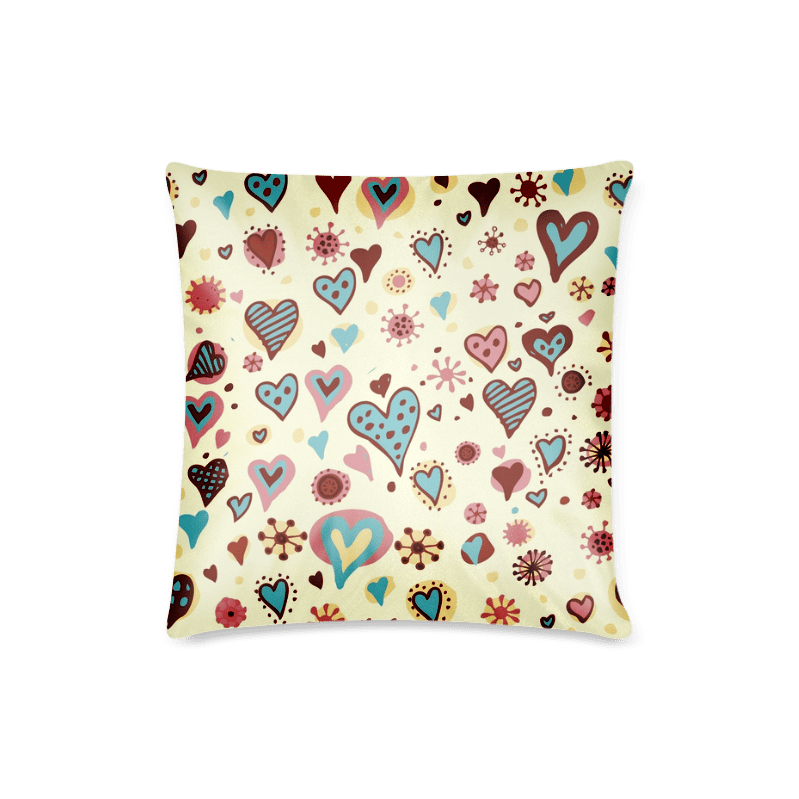 Make Vector Heart Pattern Custom Zippered Pillow Case 16