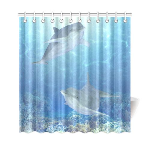 cute dolphins dolphin shower curtain 69 x72 id d880384