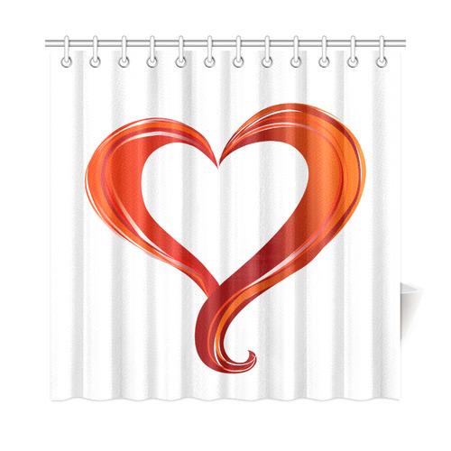 beautiful red heart shower curtain 72 x72 id d1536756