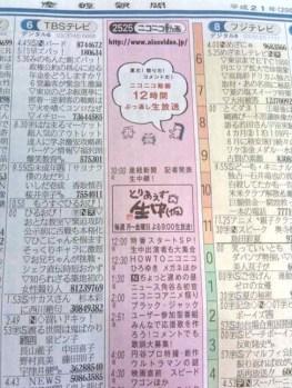 Sankei's TV Program Timetable Page