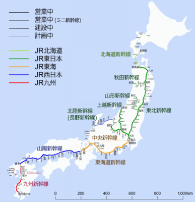 Shinkansen map by Hisagi