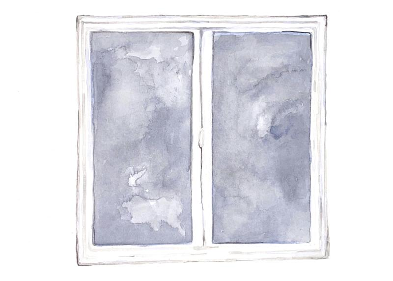 Section break: An illustration of a window.