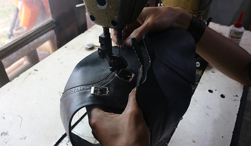 The home industry makes up a significant portion of Bandung's economy. Cindy's father was a shoemaker. Karim Raslan Photo