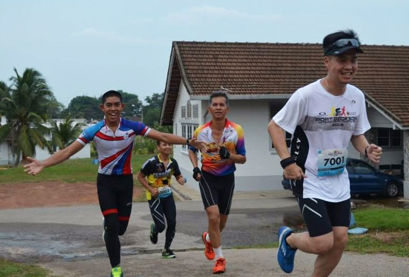 Zulfarhan was athletic. He participated in marathons, duathlons and triathlons while in university. Handout photo