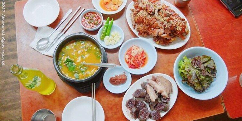 韓國首爾 ▌孔德站(K312) 孔德市場 豬腳一條街 마포유가궁중족발 宮中豬腳 送血腸湯
