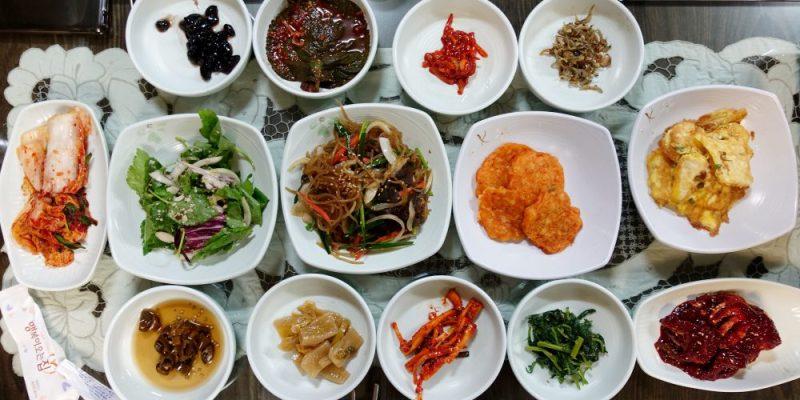 韓國首爾 ▌明洞韓定食:阿味笑아미소 午間套餐 石鍋飯定食 小菜有醬蟹 附鍋巴湯
