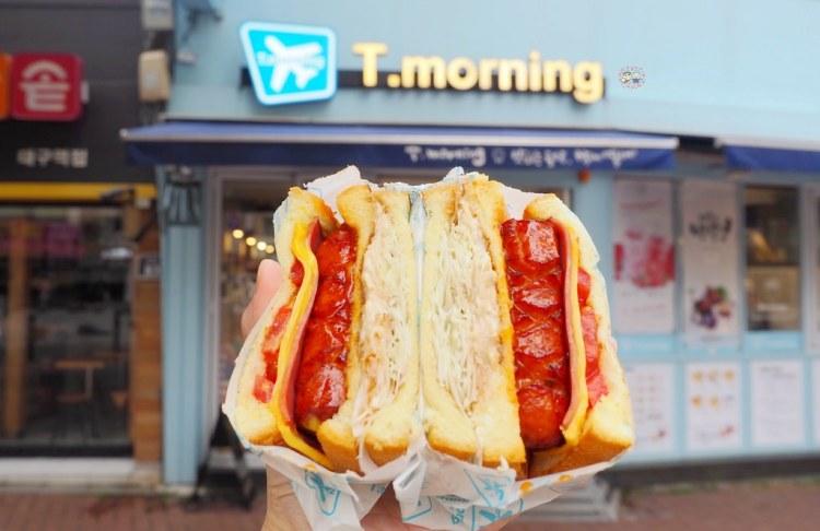 韓國大邱早餐推薦 ▌東城路美食T.morning浮誇三明治 美式早午餐《加小菲專欄》