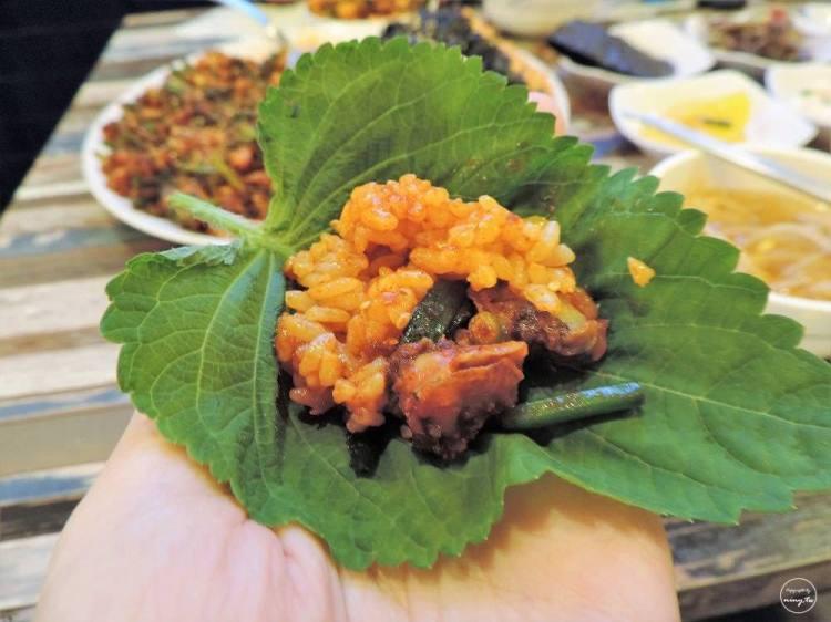 韓國旅行 ▌木浦食記:不在釜山的札嘎其食堂 자갈치식당 推薦大盤泥蚶炒飯《妮妮專欄》