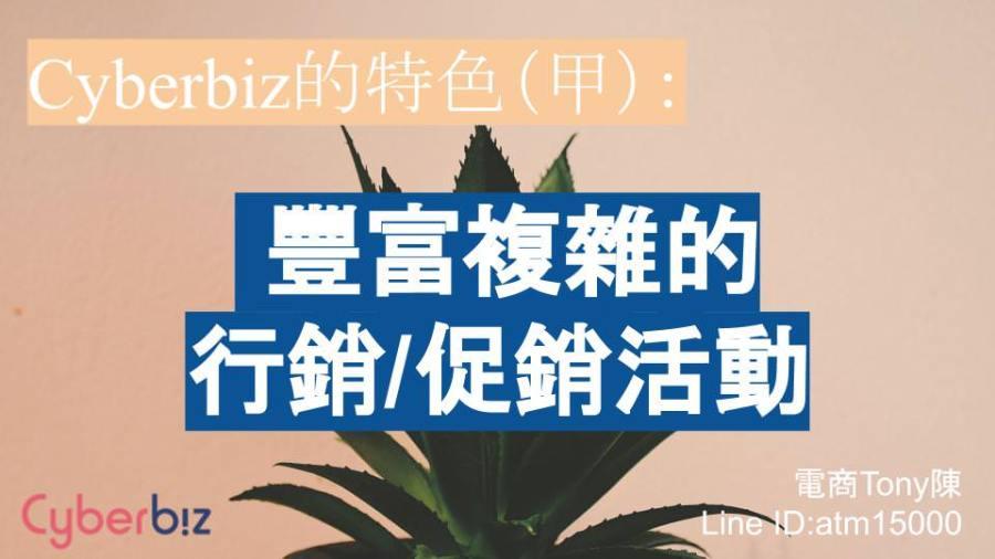 Cyberbiz特色(甲):複雜且豐富的行銷/促銷活動
