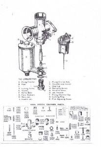 Amal 276 & 289 remote needle carburetor parts list, tuning