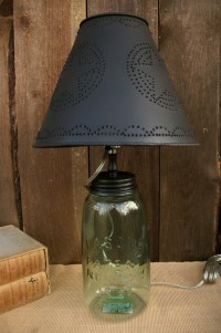 "Primitive Country Punched Tin 10"" Clip-On Lamp Shade-Star ..."