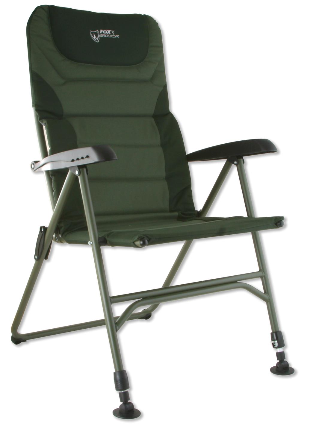 fishing chair with arms stool for standing desk fox carp warrior arm xl or compact