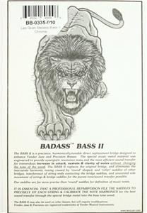 LEO QUAN® Badass Bass II 4-String Bass Bridge~Chrome