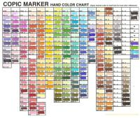 Copic Marker Colors | Car Interior Design