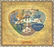 1956 Disneyland 24 X 36 Map Poster Walt Disney World