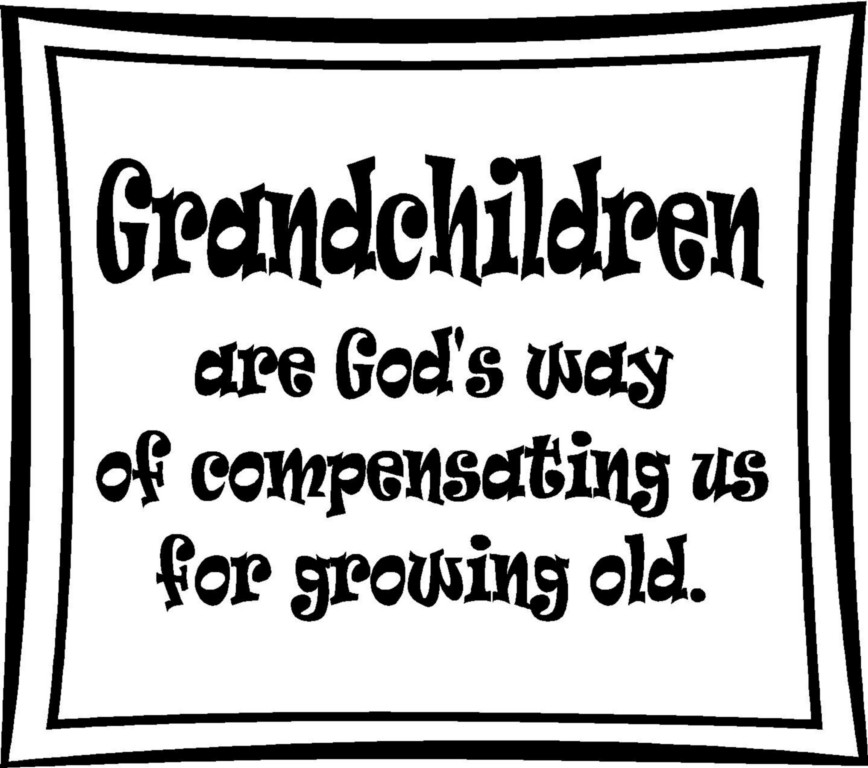 Grandchildren Vinyl Decal Sticker Lettering Words Quote