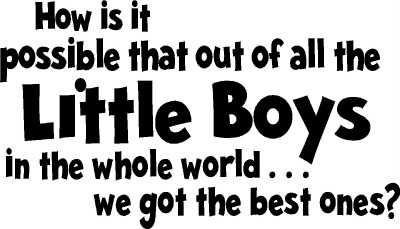 Little Boys Room Wall Letters Words Sticker Vinyl Decal